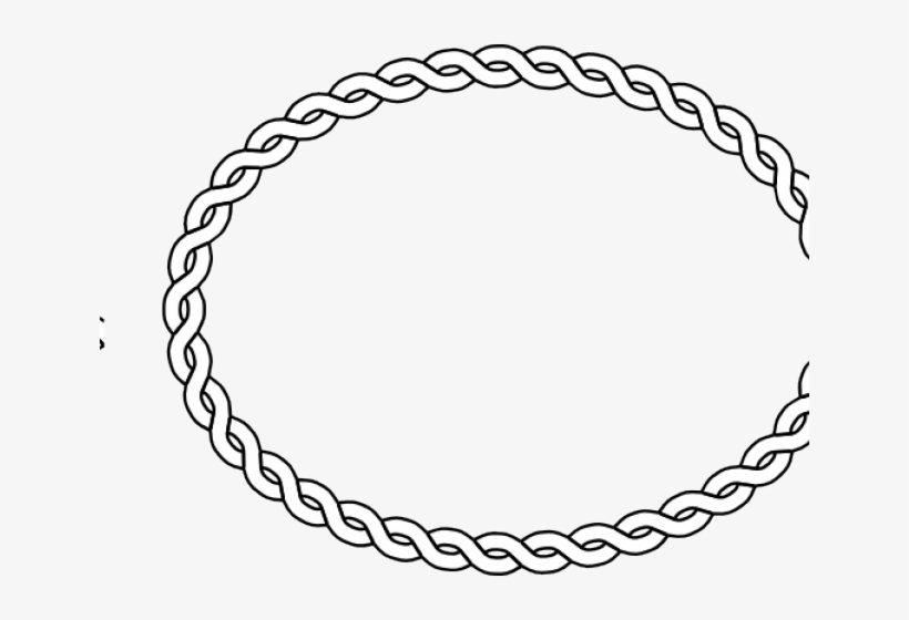 Oval Clipart Rope - Oval Black And White Frame Png, transparent png #1688465
