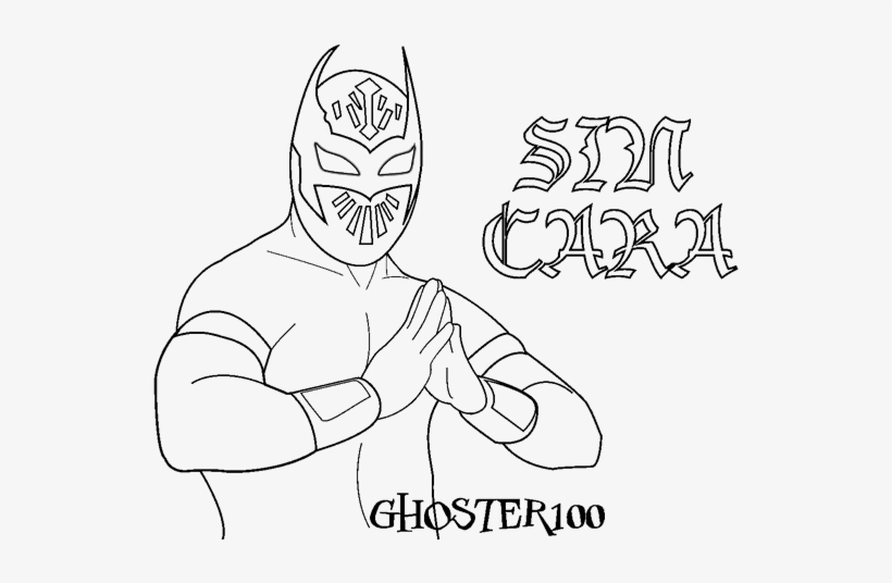 Wwe Sin Cara And Rey Mysterio Coloring Pages Printable Imagenes De