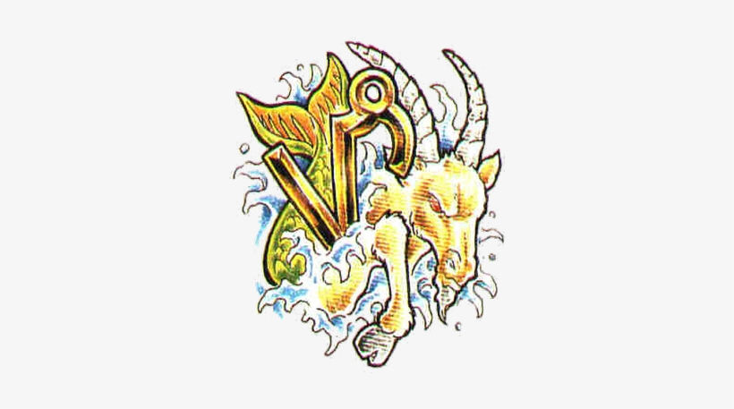 Best Colored Ink Capricorn Zodiac Tattoo Design - Capricorn Tattoo Design Colored, transparent png #1690772