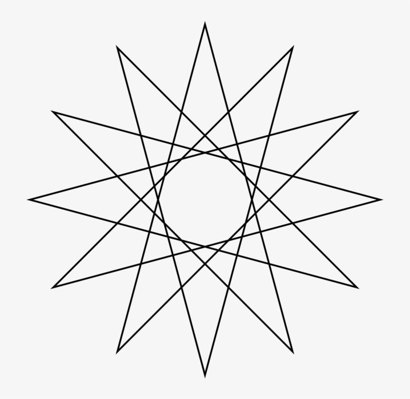 Star Polygon Circle Drawing Shape - 15 7 Star Polygon, transparent png #1690991