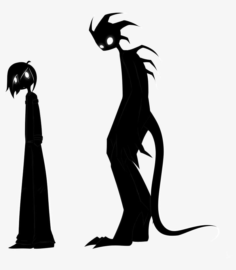 Shadow Boy And Shadow Monster By Luziland - Draw A Shadow Monster, transparent png #1693106