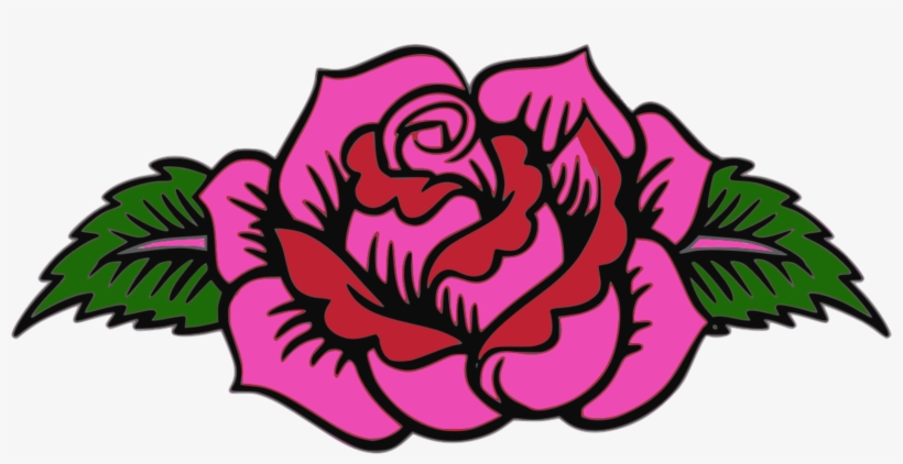 Garden Roses Floral Design Pink Day Of The Dead - Day Of The Dead Flower Clipart, transparent png #1693556