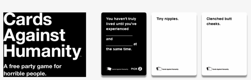 Review Invision Game Community - Cards Against Humanity Transparent