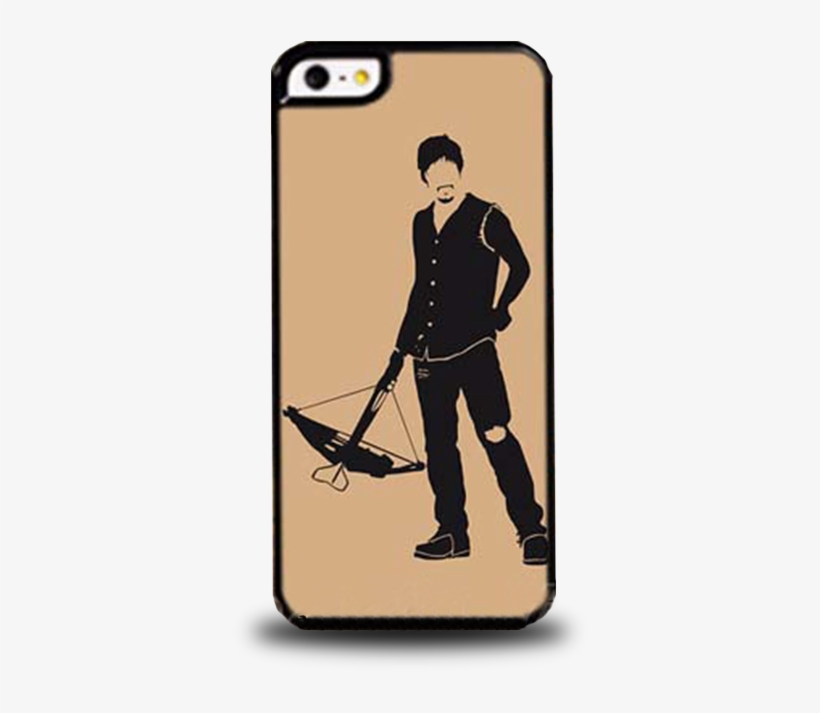 Daryl Dixon Painting Phone Case - Black And White A4 Size Posters, transparent png #1695685