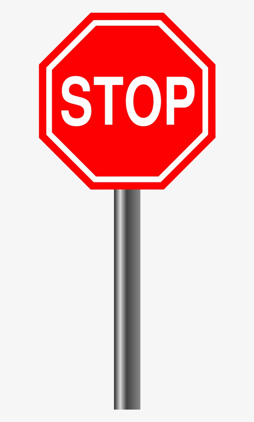 Stop Alloy Sign - Stop Sign Clipart Png, transparent png #1696449