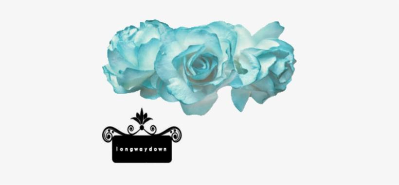 Transparent Flower Crown Blue - Flower Crown Png Blue, transparent png #170460