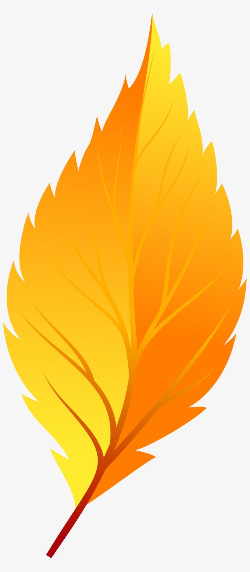 Yellow Autumn Leaf Png Clip Art - Transparent Background Autumn Leaf Clip Art, transparent png #170619