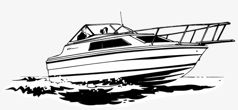 Download Picture Black And White Download Japanese - Speed Boat Line Art, transparent png #170744