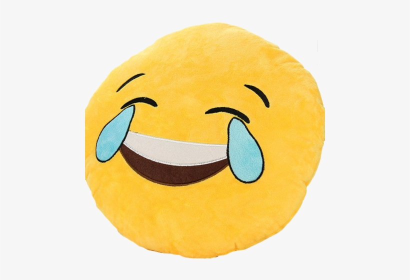 Emoji Crying Laughing Pillow Getonfleek - Crying Face Emoji Distorted, transparent png #170932