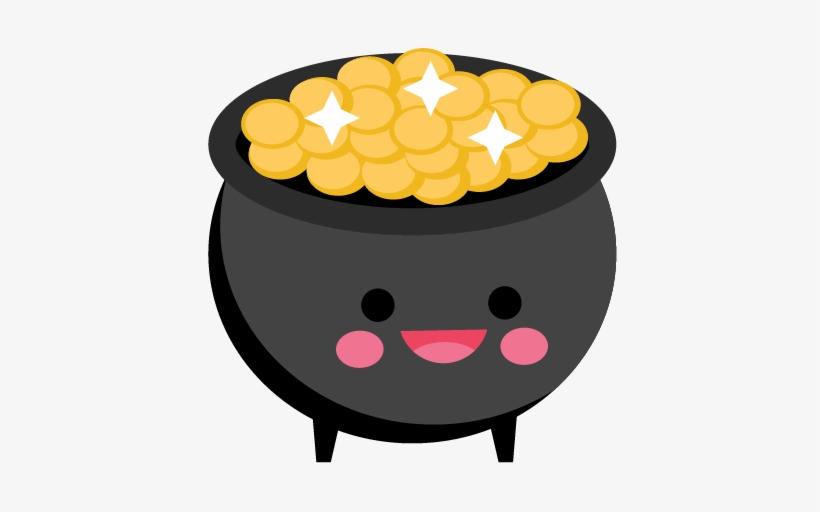 Patrick's Day Pot Of Gold Svg Scrapbook Cut File Cute - Happy Pot Of Gold, transparent png #171644