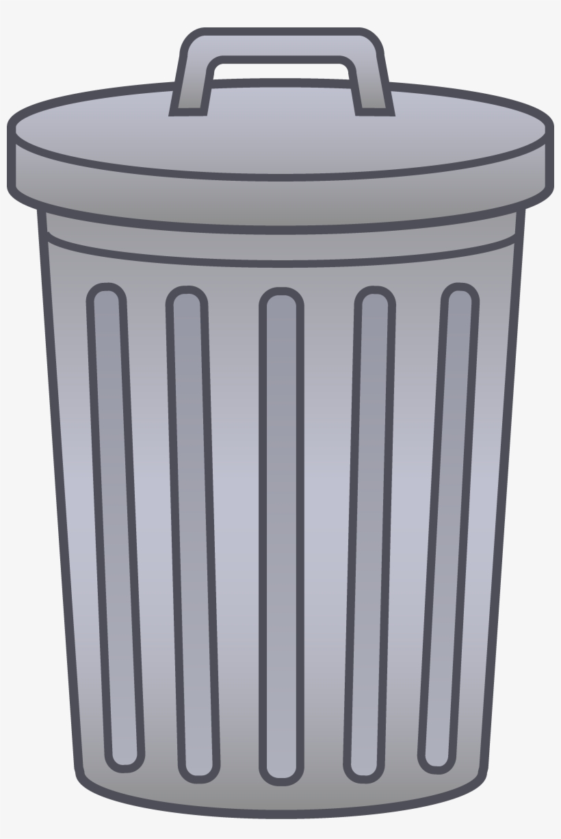 Svg Transparent Garbage Can Clipart Letters Format - Trash Can Transparent, transparent png #172152