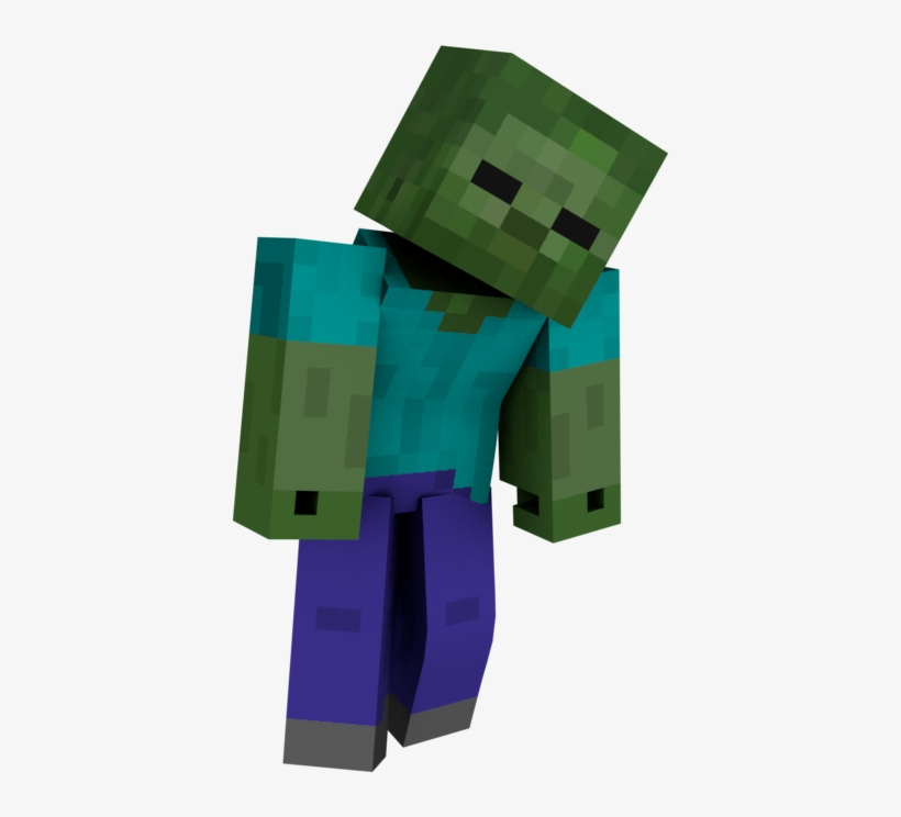 Zombies Will Adopt A Hunched Pose With The Torso Angled - Diary Of A Minecraft Zombie Book 1: A Scare Of A D, transparent png #172434