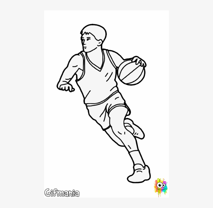 Pastels Drawing Basketball Svg Royalty Free Download - Basketball Player Dribbling Drawing, transparent png #172777