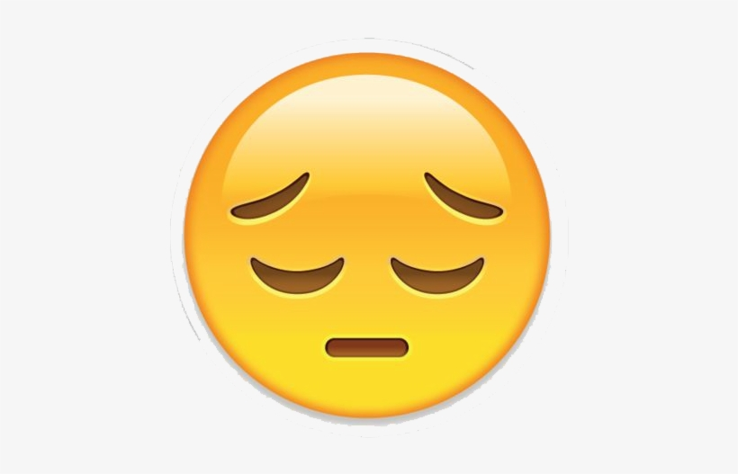 Sad Emoji Png Transparent Image - Sad Sticker For Whatsapp Dp, transparent png #172828