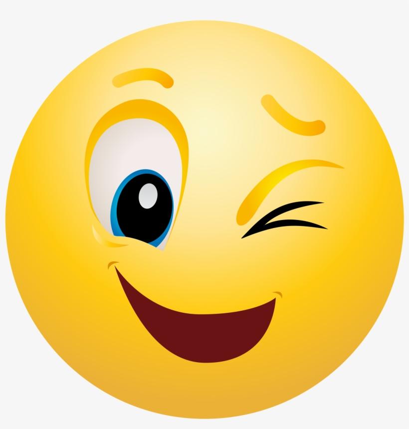 Emoji printable. Emoticon clipart info wink
