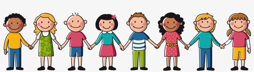 Banner Freeuse Friends Holding Hands Clipart - Kids Holding Hands Clipart, transparent png #172984