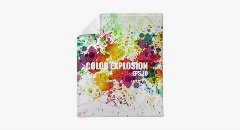Abstract Colorful Splash Watercolor Background Plush - Colourful Splash, transparent png #173549
