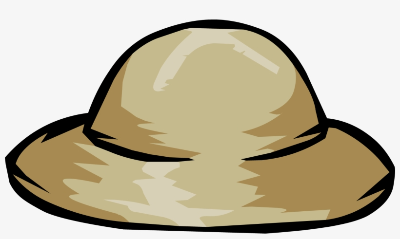 Drawn Hat Safari Hat - Safari Hat Clip Art, transparent png #173801