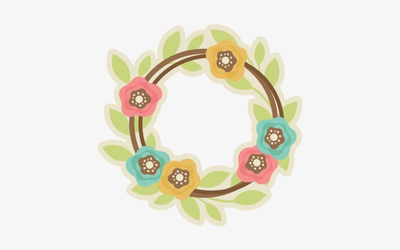 Spring Wreath Svg Cutting File Free Svg Cut Files Free - Spring Wreath Svg, transparent png #174394