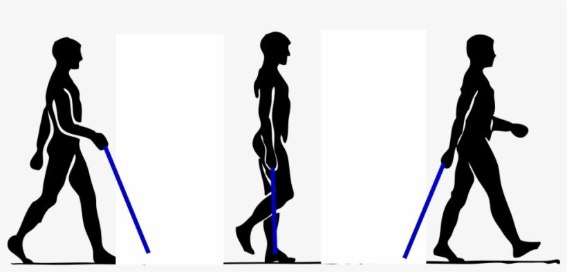 People,walking,walking Figure, - Walk With Walking Stick, transparent png #174849