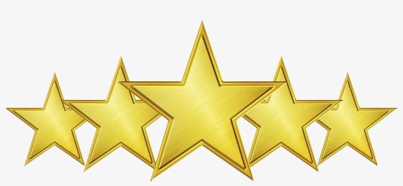 5-star Accredited School - Five Gold Stars Png, transparent png #174896