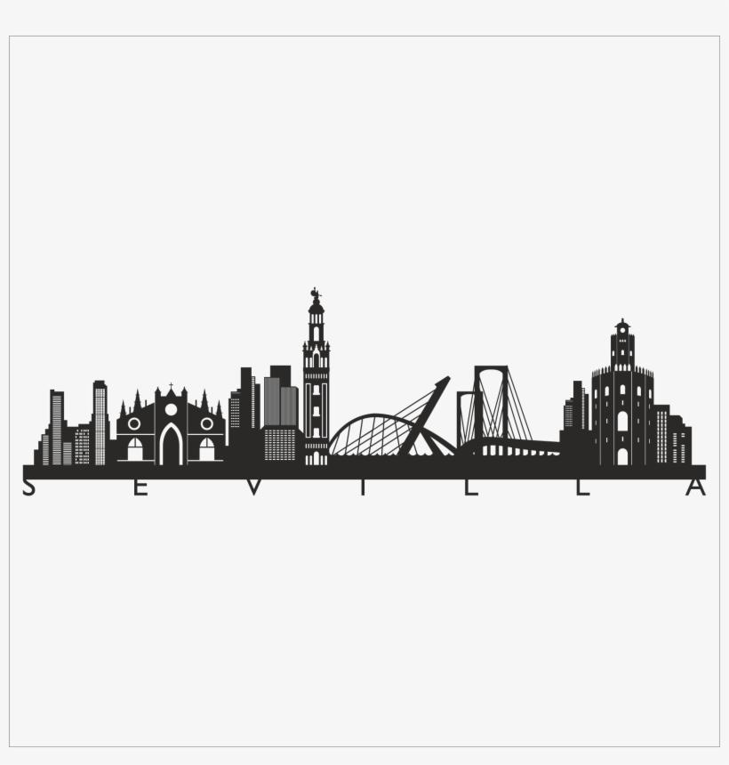 Vinilo Skyline Sevilla Skyline Sevilla Png Free Transparent Png Download Pngkey