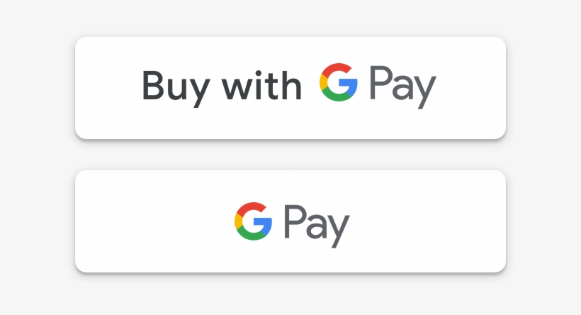 White Google Pay Payment Buttons - Payment - Free Transparent PNG