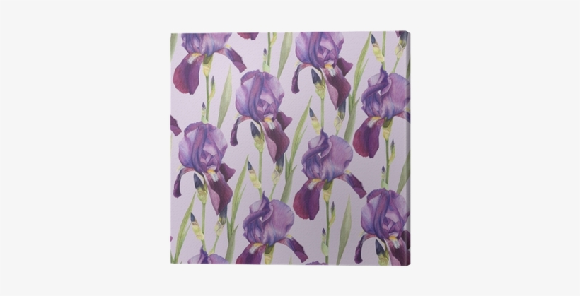 Floral Seamless Pattern With Hand Drawn Violet - Watercolor Painting, transparent png #177859