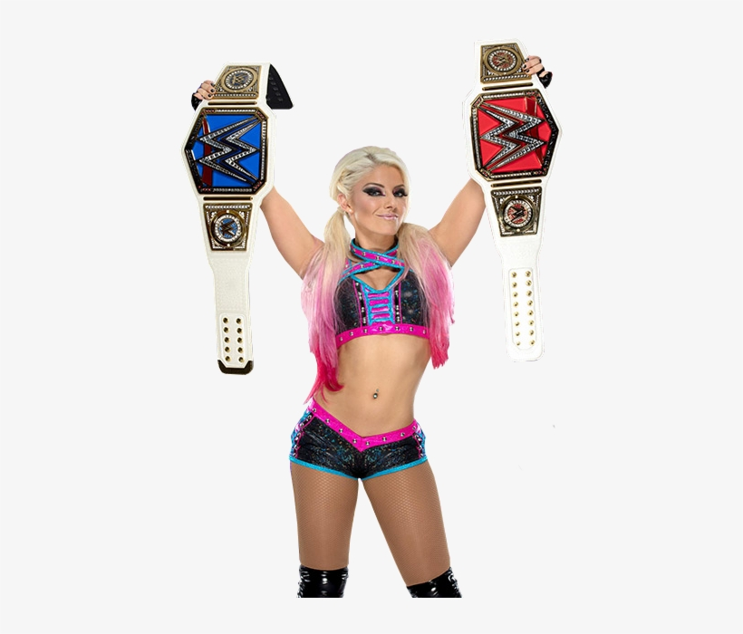 Alexa Bliss Holding Both Raw And Smackdown Women's - Alexa Bliss Raw And Smackdown Women's Champion, transparent png #178314