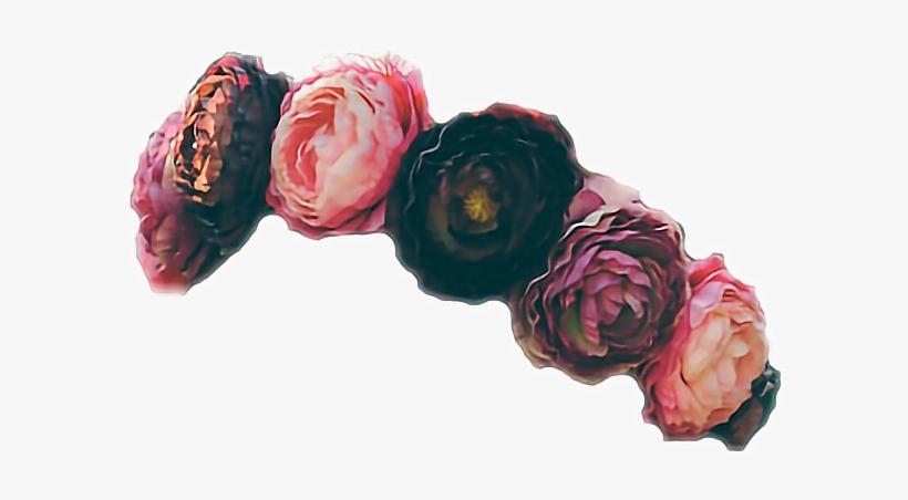 Flower crown aesthetic. Black png flowercrown red