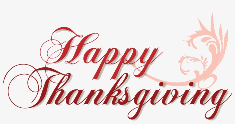 Happy-thanksgiving - Happy Thanksgiving Transparent Background, transparent png #178616