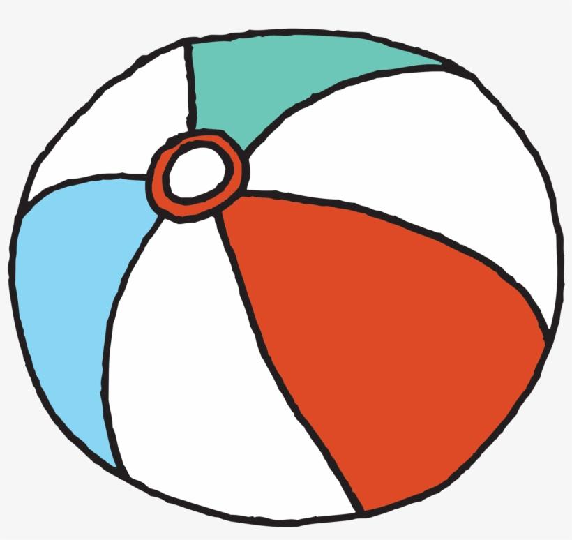Beach Ball - Small Beach Ball Cartoon, transparent png #178988