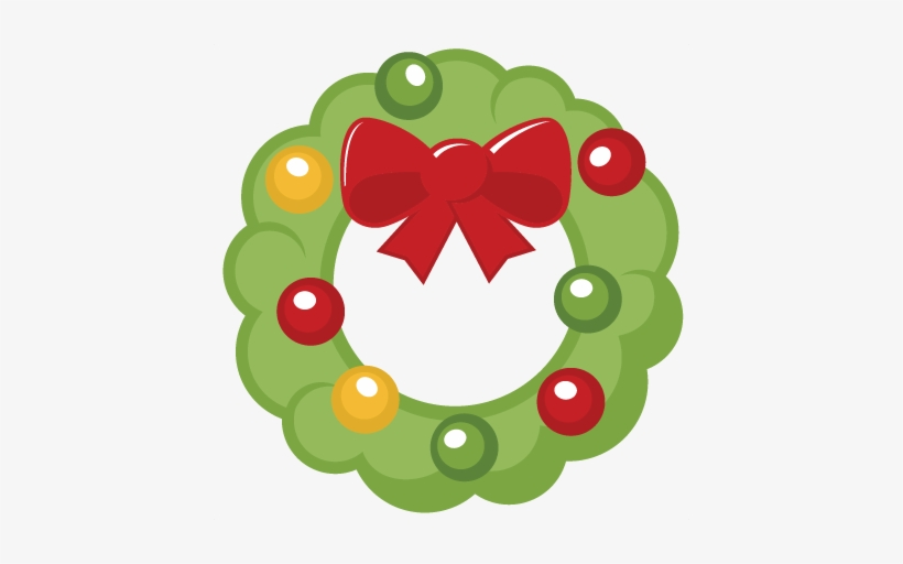 Christmas Wreath Svg Cutting File Christmas Svg Cut - Miss Kate's Cuttables Christmas, transparent png #179632