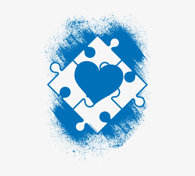 , 65% Polyester, 35% Viscoses - Autism Heart, transparent png #1700051