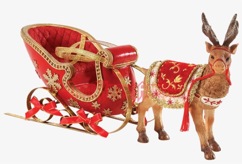 Santa Sleigh Reindeer Png Download - Possible Dreams - Santa's Sleigh, transparent png #1700410