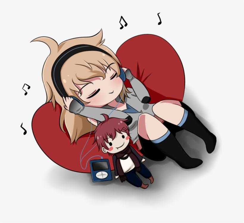 Anime Art Chibi Itachi Uchiha Drawing - Anime Listening To Music Png, transparent png #1700705