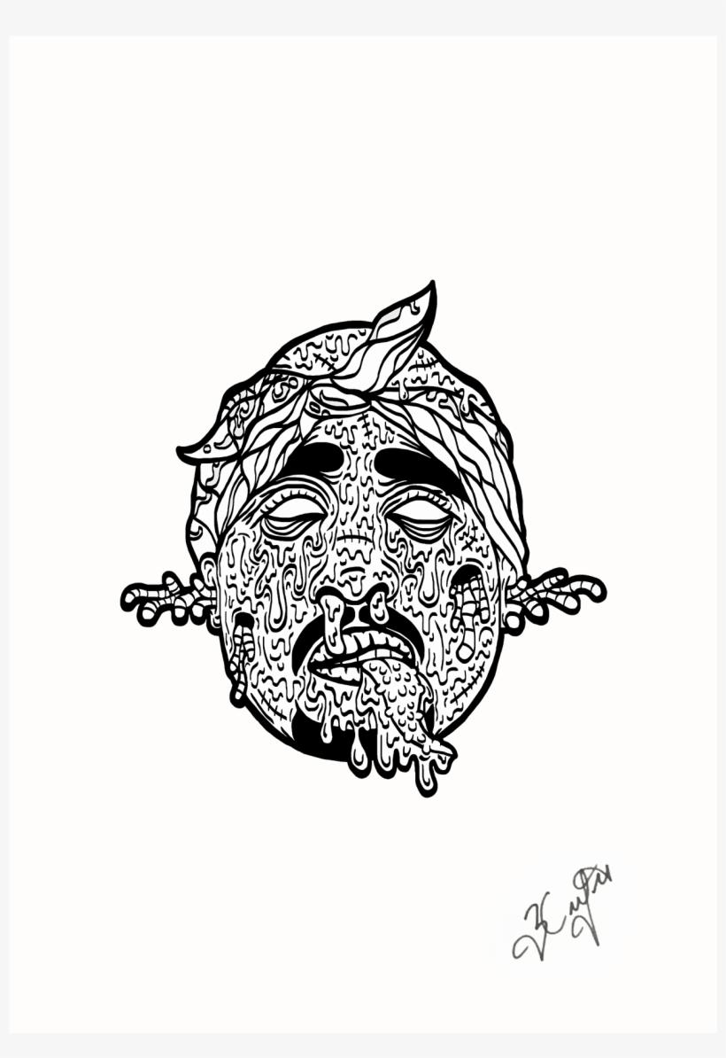 Black Tupac Shakur Free Transparent Png Download Pngkey