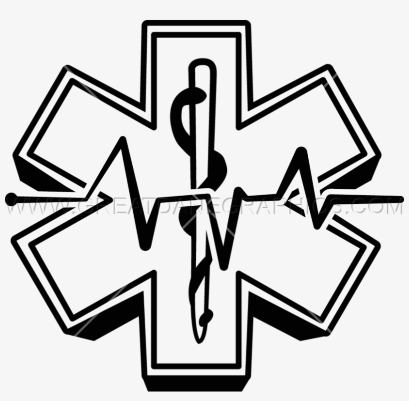 Download Paramedic Logo Black And White Clipart Emergency - Star Of Life, transparent png #1701744