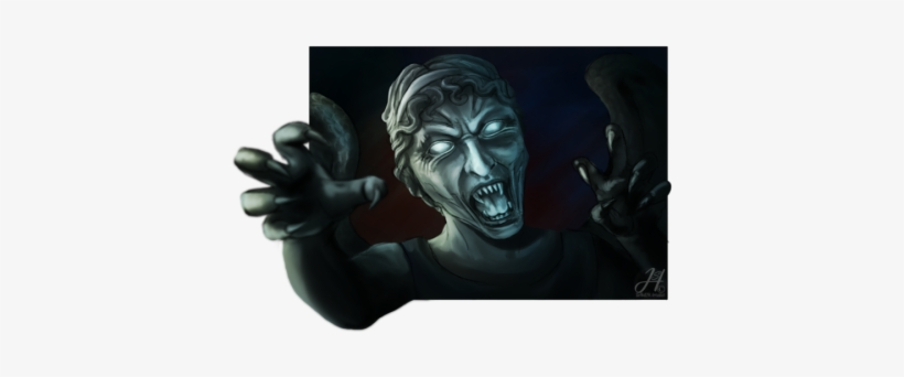 Shewolf294 Did This Bit Of Weeping Angels Fan Art As - Weeping Angel Fan Art, transparent png #1702717