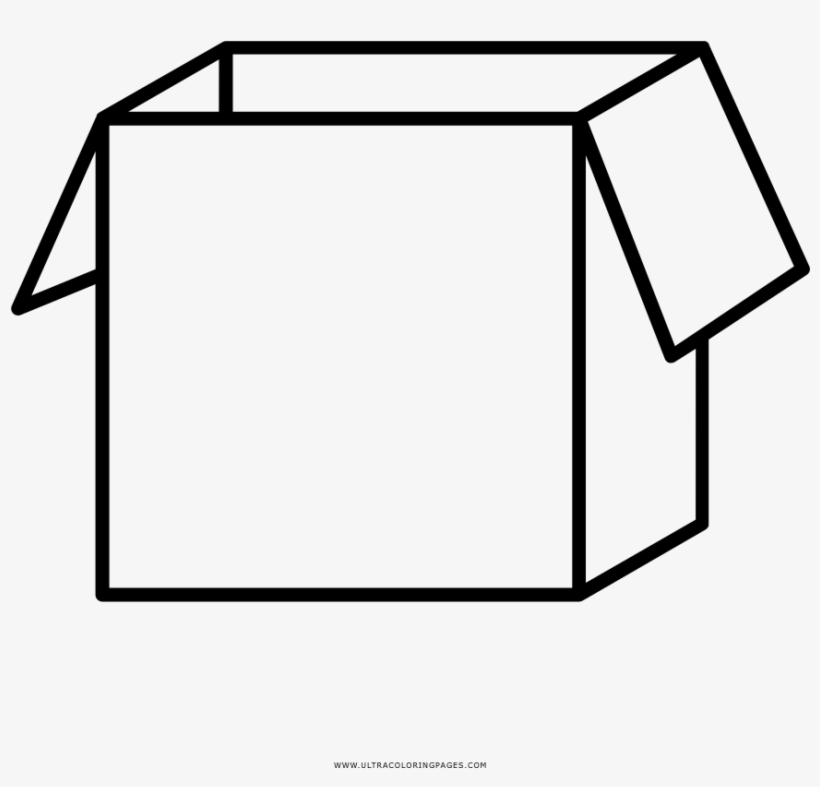 Open Box Coloring Page Caja De Carton Para Colorear Free