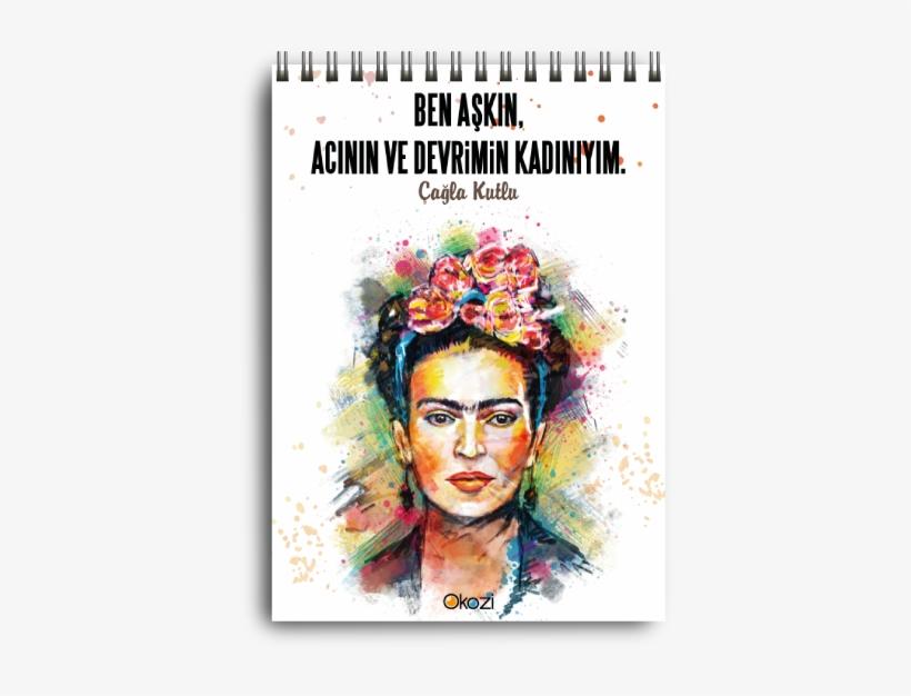 Frida Kahlo Colourful Portrait, transparent png #1705036