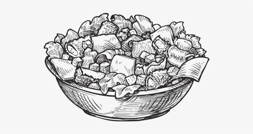 Salad Clipart Burrito Bowl Salad Sketch Png Free Transparent Png
