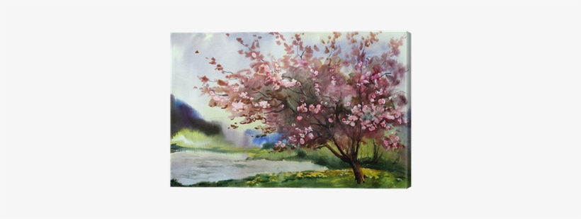 Designart Tree W/ Spring Flowers Painting Print, transparent png #1707308