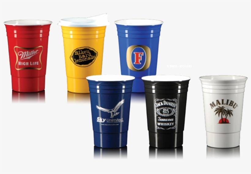American Accents Purveyors Of Fine Custom Imprinted - 16 Oz Double Wall Party Cup - Black T-dw11-black, transparent png #1709591