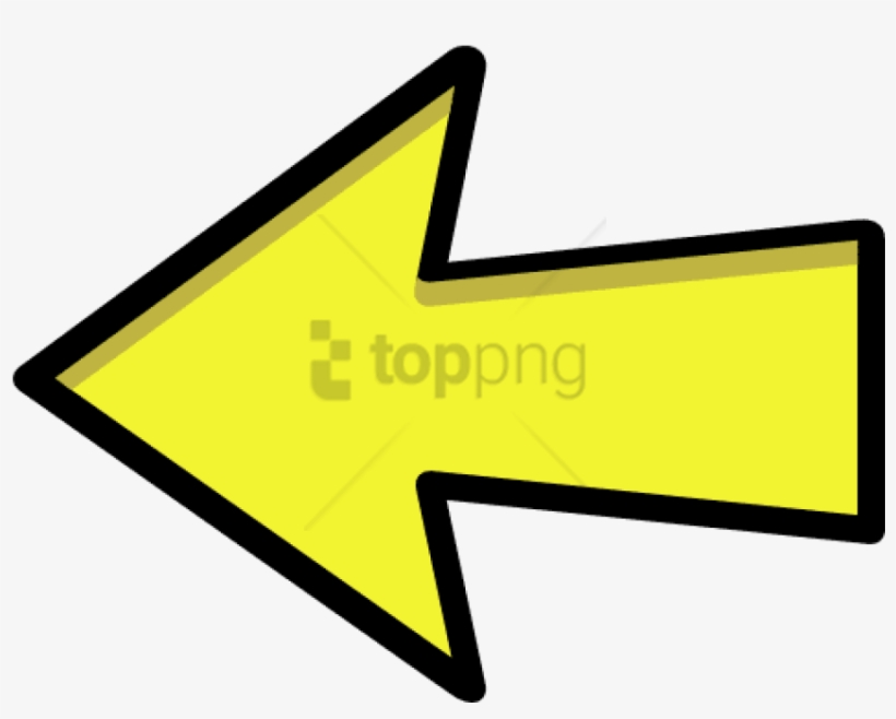 Arrow Outline Yellow Left - Yellow Right Arrow Png, transparent png #1709969