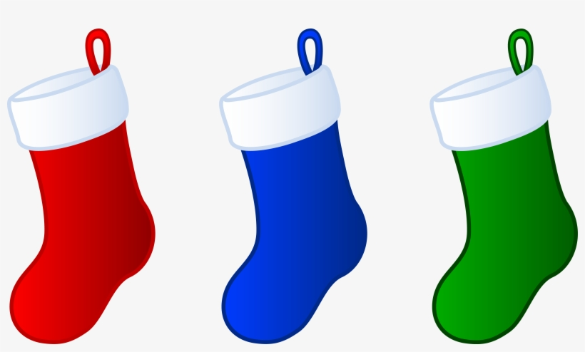 Three Simple Christmas Stockings - Stockings Clip Art Christmas, transparent png #1710993