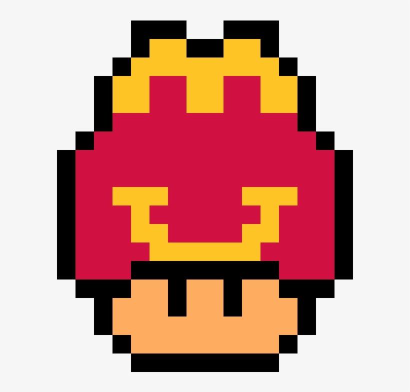 Macdonalds Happy Meal Version Mario Mushroom Pixel Art