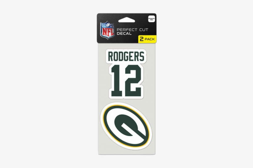 Aaron Rodgers Green Bay Packer Perfect Cut Decal - Wincraft Detroit Lions Set Of 2 Die Cut Decals, transparent png #1712955