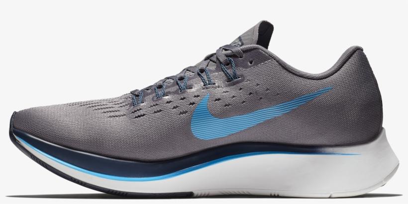 Singapore Nike Men Zoom Fly Running Shoe, Gunsmoke/blue - Nike Zoom Fly Men's, transparent png #1713077