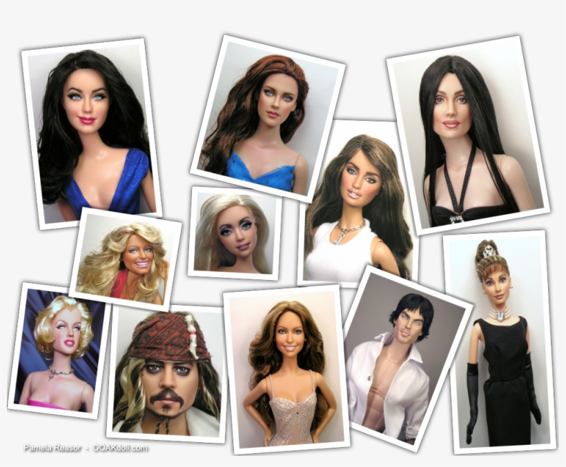 Ooak Celebrity Portrait Doll Repaints By Pamela Reasor - Celebrities Doll, transparent png #1714286